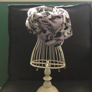The Limited lavender and black scarf